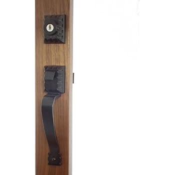 Arcadia Black Ornate Antigue Style Storm Door Hardware 1