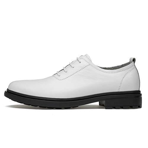 Signori Bianca shoes Business Atyle Scarpe EU Low 40 Top Xujw Men's da cerimonia casual Color Bianca Round Light 2018 Oxford Basse Soft Toe Stringate Scarpe Dimensione 48zqd