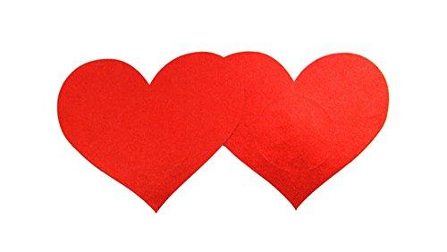 Monouso Cover Czj A rosso A cuore 10 forma di Nipple Coppie Innovation Copricapezzoli pwqwIgC