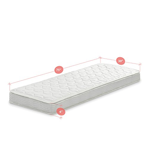 Zinus hybrid foam and spring 6 inch mattress narrow twin for Narrow width bunk beds