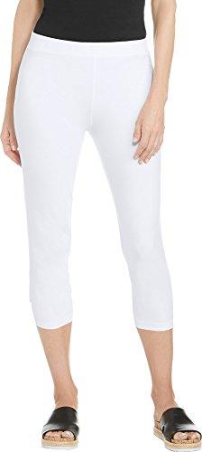 Coolibar UPF 50+ Women's Monterey Summer Capris - Sun Protective (Medium- White) (Best Capri Pants 2019)