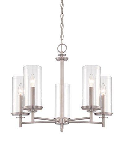 (Designers Fountain 87285-SP Harlowe 5 Light Chandelier, 24.75
