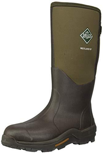 Muck Boot Men's Wetland Calf Rain Boot, Brown, 14 Medium/Wide Shaft US (Rivershed Wading Boot)