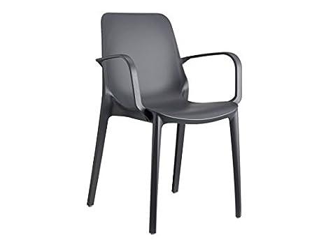 Scab ginevra sedia con braccioli in tecnopolimero colore