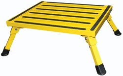 Safety Step (F-08C Y Yellow 15'' x 19'' Large Folding Step