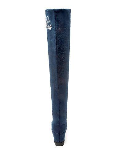 Moda Cn40 De Azul 5 Blue 5 Casual Zapatos Uk6 us8 Vellón Negro Red Cuñas Rojo Tacón Cuña Punta Xzz Botas 5 Vestido Cn Eu39 A us8 La Redonda Mujer SPaOF5yWq