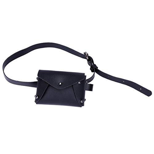 Women's Fanny Pack,Mini Pure Color Leather Messenger Bag Shoulder Bag Chest Belt Bag by-NEWONESUN