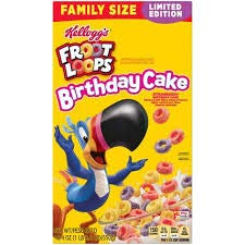 Fruit Birthday Cake - Kellogg's Fruit Loops Birthday Cake Cereal (19.4 oz) Limited Edition