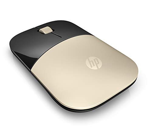HP 2.4GHz Wireless USB Mouse Z3700 (Matte Gold/Glossy Black) (Renewed)