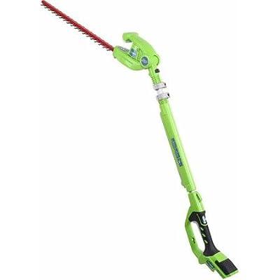 """GreenWorks Enhanced 24-Volt 20"""" Extended Reach Hedge Trimmer"""