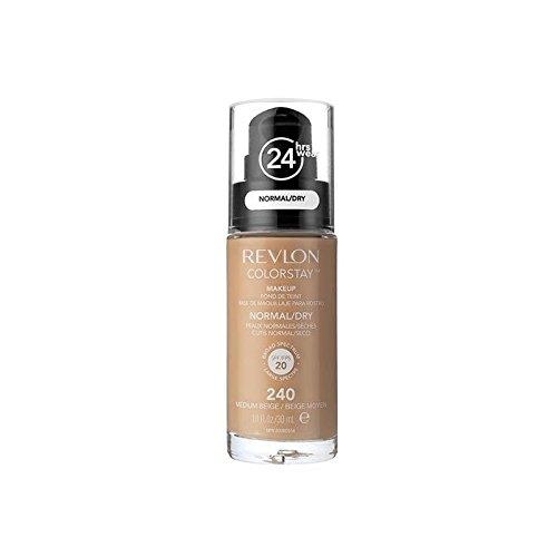 Revlon Colorstay Foundation Normal Dry Skin Medium Beige (Pack of 6) - レブロンの基礎通常の乾燥肌メディアベージュ x6 [並行輸入品] B0716DGMDL
