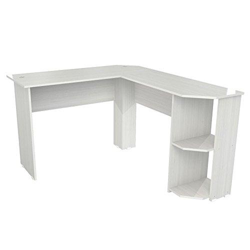 Inval ET-4215 Merlin L-Shaped Writing Desk, Laricina (Inval L Shaped Desk)