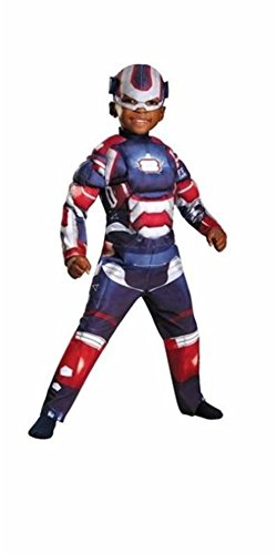 Iron Man Iron Patriot Avengers Glowing Muscle Costume w/Mask Toddler Size 3T-4T