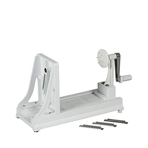 (Benriner BN5WH Turning Slicer, with with 4 Japanese Stainless Steel Blades, White)