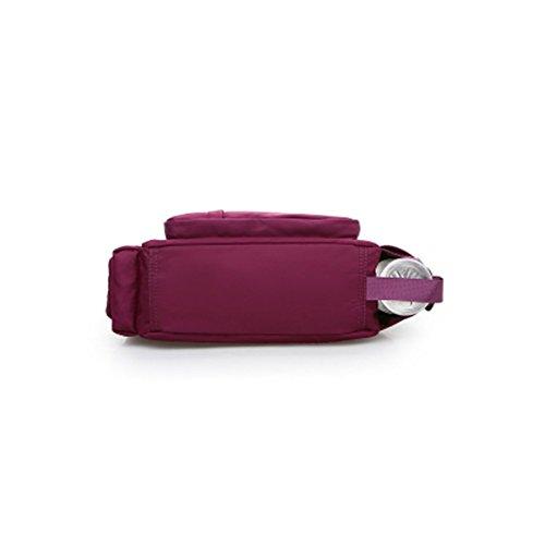 para al xiaohu Azul roja 24cm×10cm×27cm Rosa Mujer Bolso Hombro CFggPq