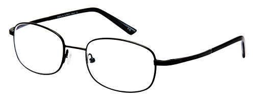 Sightline 6001 Multifocal Reading Glasses. Men's Frame with Advanced No-Line Progressive Magnification Anti-Glare Coated Lenses (2.50, Black) ()