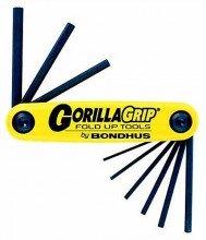Bondhus Hex Key Set, Fold-Up, Gorilla Grip.050-3/16