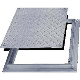 Acudor Aluminum Diamond Plate Floor Door - No Hinge, 24x24 by Acudor
