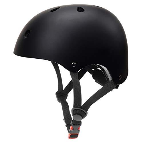 Toddler Bike Helmet 3-5 Kids Helmet Multi-Sport Skateboard Scooter Cycling Helmet CPSC Certified Impact Resistance Ventilation Adjustable Helmet Kids (Black, Small) ()