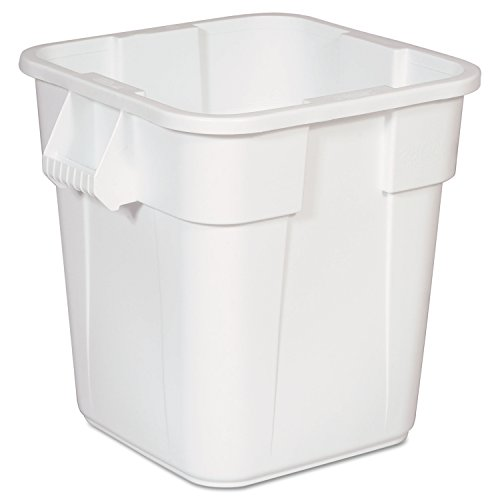 Rubbermaid Commercial FG352600WHT LLDPE Square Brute 28-Gallon Trash Can without Lid, White by Rubbermaid Commercial Products