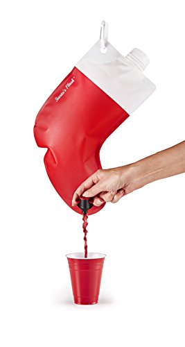 Party Flasks Santa's Stocking Flask, 2.25 Liter, Holds 3 Bottles of Wine or - Secret Santa Christmas