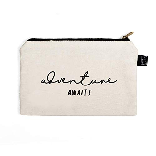 The Art People Multi Purpose Canvas Pouch with Golden Zip - 15cm x 21cm ()