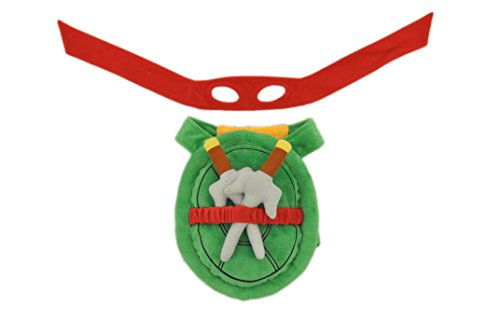 Silver Paw Teenage Mutant Ninja Turtles Red Stuffed Shell Harness, Small