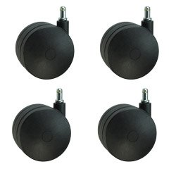 Extra Large Heavy Duty Office Chair Casters 4'' Nylon Twin Wheel - Ideal for Carpet Set of 4 by Shepherd