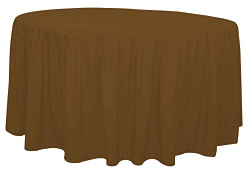 (Bombay Home StorePolyester 60 Inch Round Fitted Chocolate Tablecloth with Pleated Table Skirt for Party Table, Banquet Tablecloth, Wedding Tablecloths (D60 x H30) by The Great American Store)