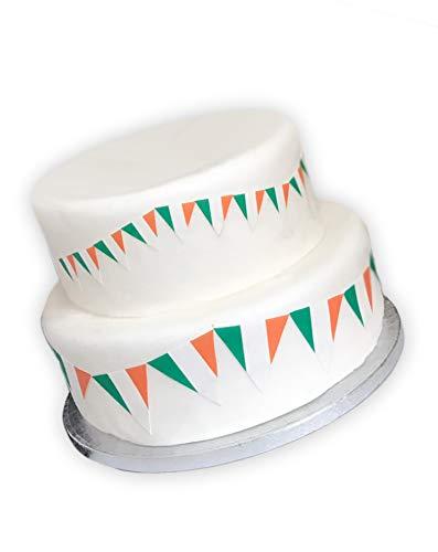 Irish Ireland Flag Bunting Edible Icing Sheet Cake Toppers Decorations