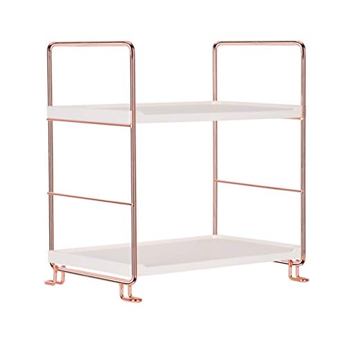 (NszzJixo9 Vintage Iron Corner Organizer Bathroom - Storage Shelf Microwave Stand,Shelf with 10 Hooks Caddy Shelf Kitchen Storage Rack Holder (S))
