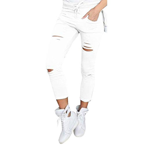 Nove Pantaloni slim pantaloni Alta Pantaloni Casual In Cotone Vita Skinny Pantaloni Con Trada A Cargo gambe Jeans Dritte Bassa Bianca Slim pantaloni TEqxzcwZ