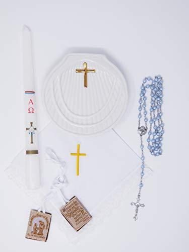 Premium Quality Baptism Kit, Kit de Bautizo (Blue) ()