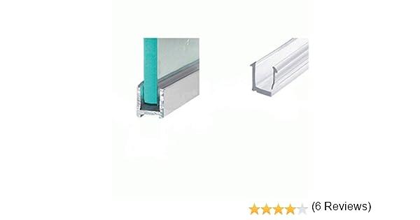 Perfil en U para cabinas de ducha, de aluminio, para cristales de ...