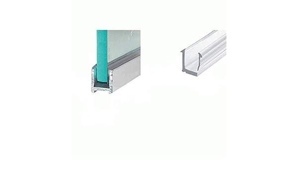 Pinza cabinas de ducha aluminio perfil U de perfil para 10 mm ...