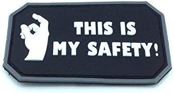 This Is My Safety Blackhawk Down Negro PVC Patch Velcro Airsoft ...