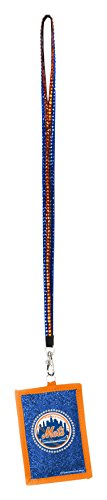 MLB New York Mets Beaded Lanyard with Nylon Wallet (New Lanyard Mets York)