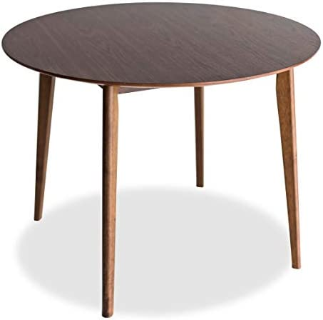 Edloe Finch Round Dining Table 40 inch diameter Walnut