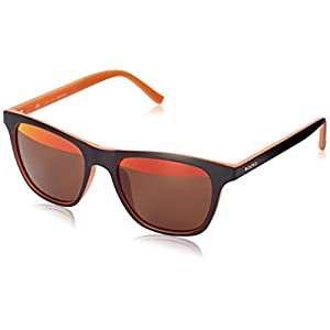 Police S1936V 536HYH Wayfarer Sunglasses, Brown,Orange & Orange Brown Mirrored, 53 mm