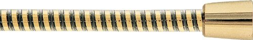 Delta Faucet U490R-PB70-PK 70-Inch UltraFlex R Black/Polished Brass Ribbon Hose, Polished Brass