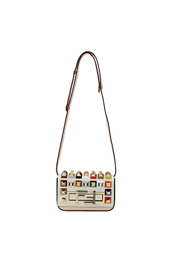 8BR7585B6F048K Fendi Shoulder Bags Women Leather Pink