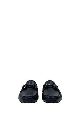 bleu hommes bleu bleu Ferragamo 5 Loafer Chaussures pour Salvatore Taille 7 OaPXWEn