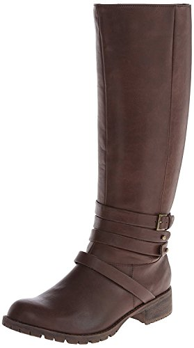 ZiGiny Women's Dasher Engineer Boot,Brown,7 M US