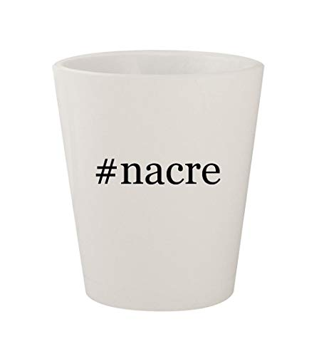 Used, #nacre - Ceramic White Hashtag 1.5oz Shot Glass for sale  Delivered anywhere in USA