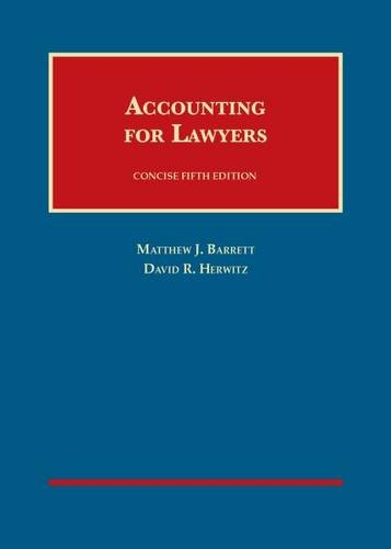 Accounting for Lawyers, Concise (University Casebook Series)