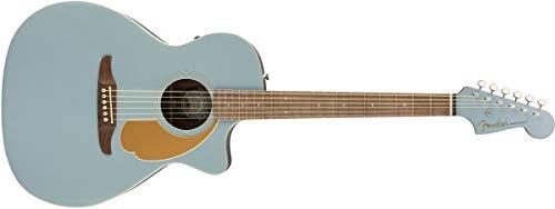 Fender Newporter Player Acoustic Guitar - Ice Blue Satin - Walnut Fingerboard