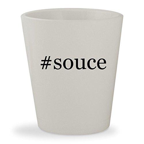 #souce - White Hashtag Ceramic 1.5oz Shot Glass