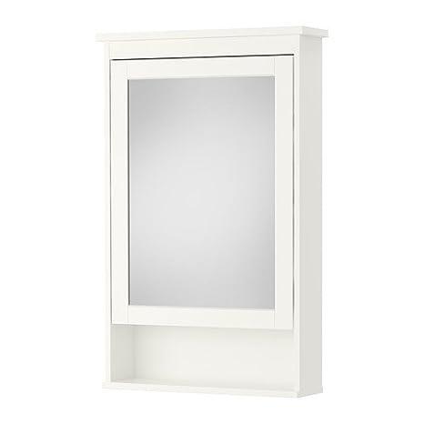 Ikea spiegelschrank hemnes  IKEA HEMNES -Spiegelschrank mit 1 Tür weiß - 63x16x98 cm: Amazon ...