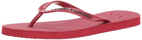 A|X Armani Exchange Women's Classic Printed AX Flip-Flop, Royal Red, 6 M - Armani Woman