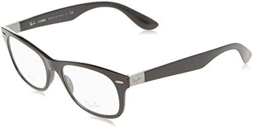 Ray-Ban Rx7032 Sunglasses,52mm,Black/Clear Lens
